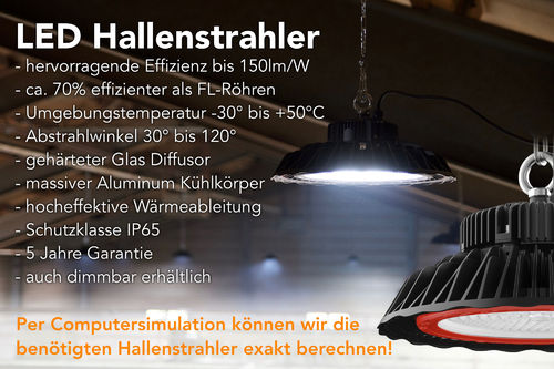 High Performance LED-Hallenstrahler 100W